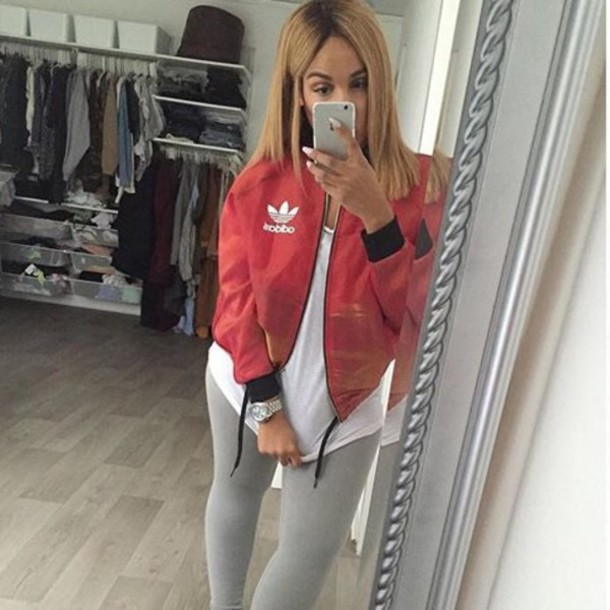 Jacket Bomber Jacket Red Red And Black Jacket Black And Red