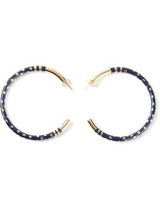 earrings hoop earrings blue jewels