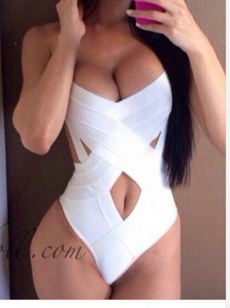 swimwear white swimwear monokini