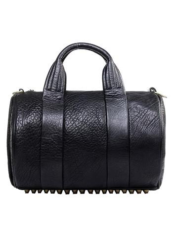 Alexa duffle leather bag studded @ baginc.com