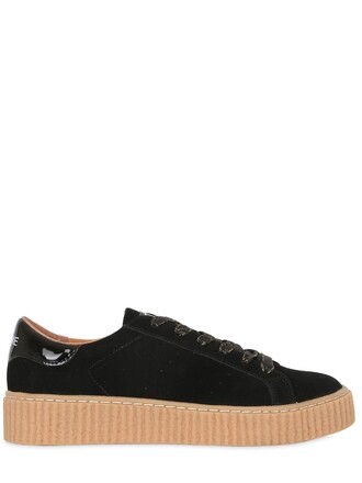 sneakers suede black shoes
