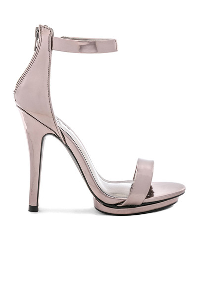 by the way. heel metallic silver shoes