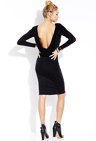Striking Cowl Back Midi Dress | FOREVER21 - 2000088083