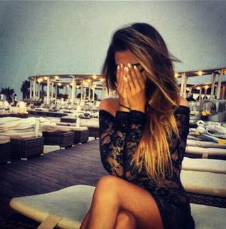 little black dress lace dress ombre hair mini black dress classy dress bodycon dress california girl nikki bella