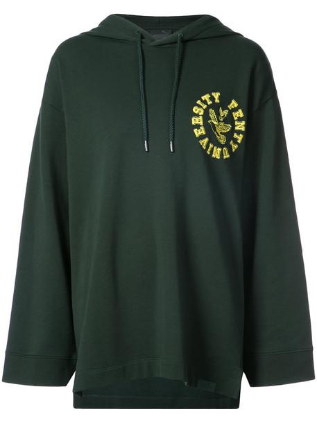 Fenty x Puma hoodie back women cotton green sweater