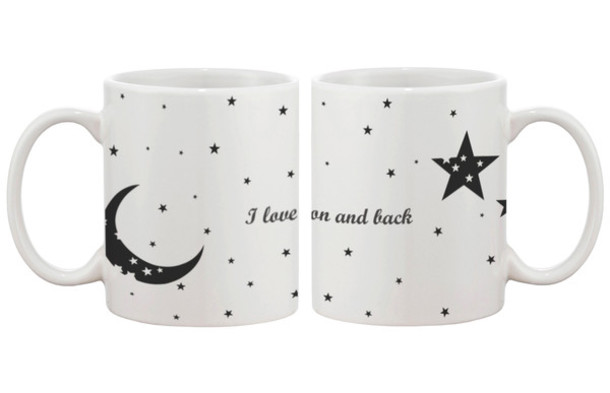 I Love You To The Moon And Back Cute Matching Coffee Mug Cup Set