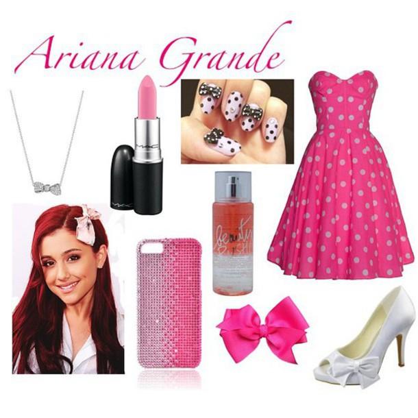 ariana grande pink dress dress