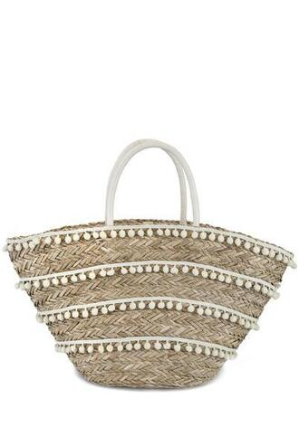 bag brown fallon and royce tote bag white bikiniluxe