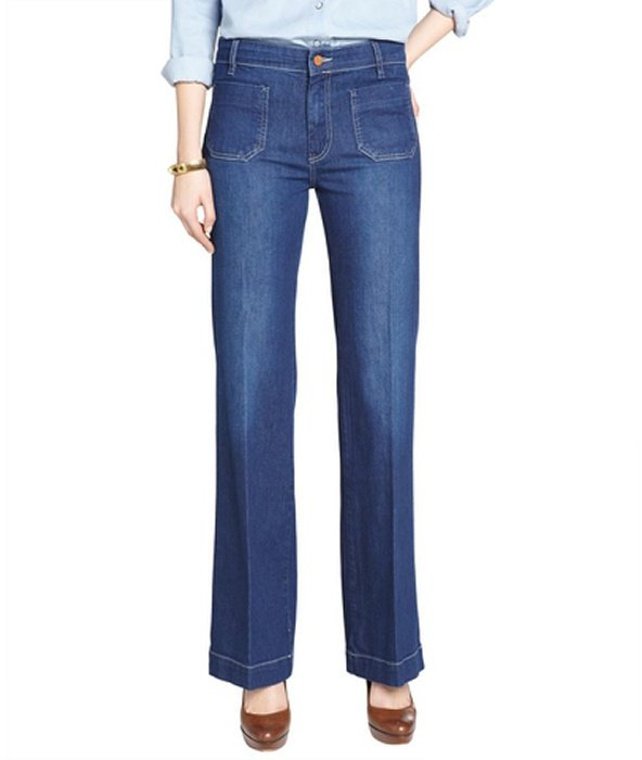 Mih jeans halley blue stretch denim 'milan' flared jeans