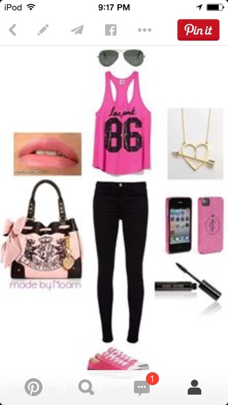 bag make-up jacket jeans jewels tank top phone cover