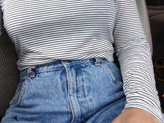 shirt stripes long sleeves white