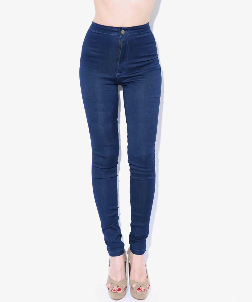 2014 women vintage American Apparel high waist easy jeans pencil Stretch Denim pants botton plus size-in Jeans from Apparel & Accessories on Aliexpress.com | Alibaba Group