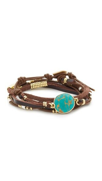 brown turquoise jewels
