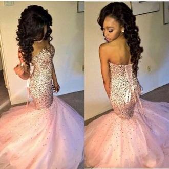 dress rhinestones diamonds pretty pink pink dress prom dress prom beautiful india westbrooks kim kardashian nide