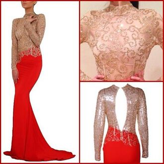 dress lost souls red dress red gown red gowns gold dress long gold gown gold glitter gold glitter dress gold lace prom dress gold mesh prom dress beautiful ball gowns beautiful dresses special occasion dress train dress high-neck see through dress see through gorgeous dress stunning dresses