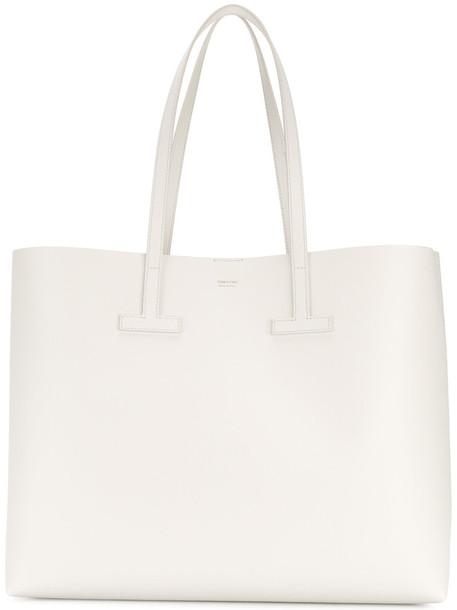 Tom Ford oversized women bag shoulder bag leather white