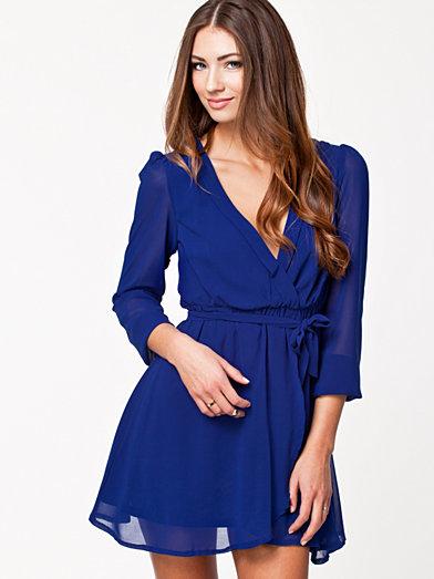Wrapped Dress - Nly Trend - Cobolt Blue - Festklänningar - Kläder - Kvinna - Nelly.com