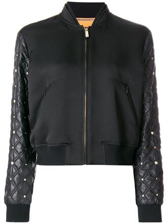 jacket bomber jacket women quilted cotton black silk
