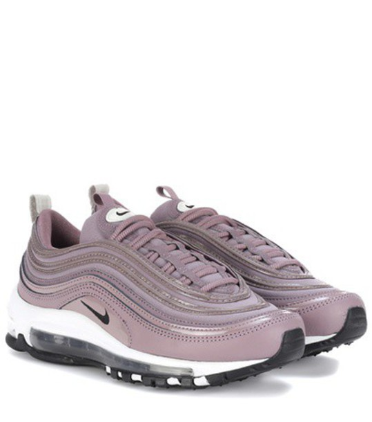 Nike sneakers leather purple shoes