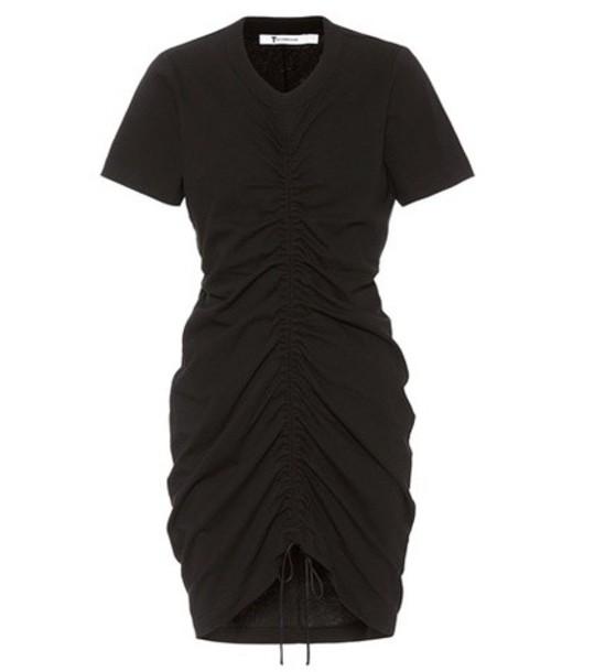 T by Alexander Wang dress drawstring cotton black