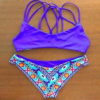 swimwear bottoms colroful aztec style summer