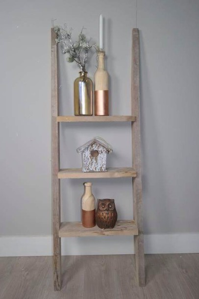 Home accessory brown wood ladder home decor tumblr