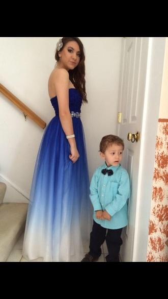 dress prom dress long prom dress long dress blue dress blue prom dress ombre dress blue ombré prom dress