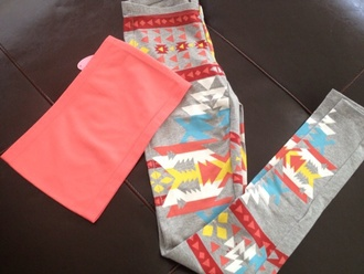 tribal pattern colorful cute summer outfits tribal leggings tribal print