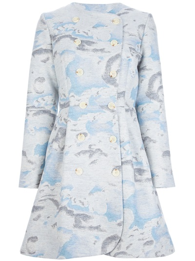 Kenzo 'day Clouds' Coat - Simeone - Farfetch.com