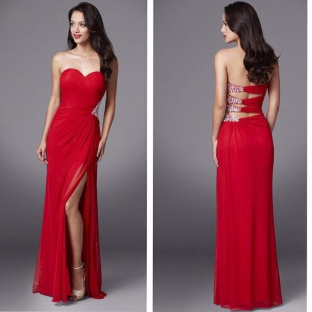 dress prom dress prom formal dress red dress ball gown dress