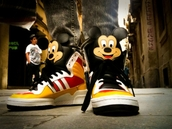 yellow shoes,orange shoes,red shoes,brown shoes,white shoes,black shoes,mens shoes,sneakers,disney,mickey mouse,shoes
