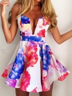 Multi floral camis skate dress