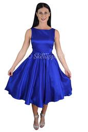 dress,skelapparel,blue satin cocktail dress,wedding party blue dress,beach wedding bridemaid dress,lovely blue satin cocktail dress,bridal party blue dress