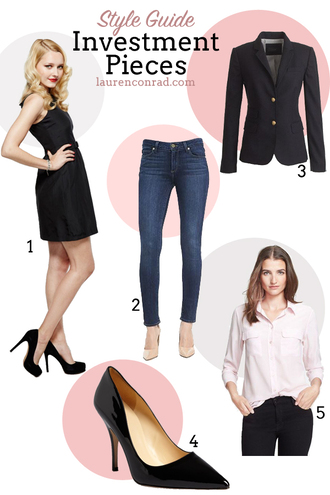 lauren conrad blogger jeans jacket denim little black dress tailoring