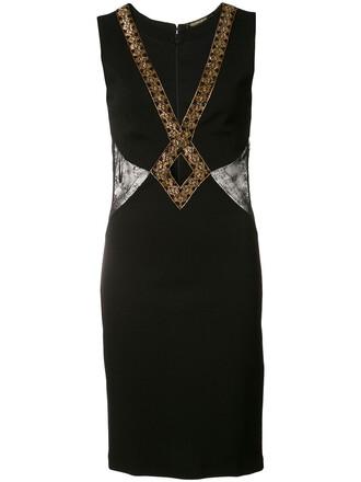 dress mini dress mini embroidered women spandex black