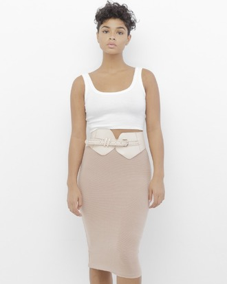 Blush Pink Pencil Skirt - Shop for Blush Pink Pencil Skirt on ...