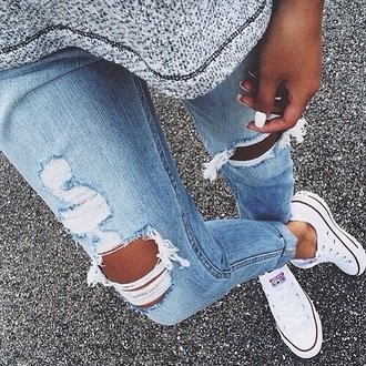 jeans ripped jeans blue ripped jeans light blue jeans shoes