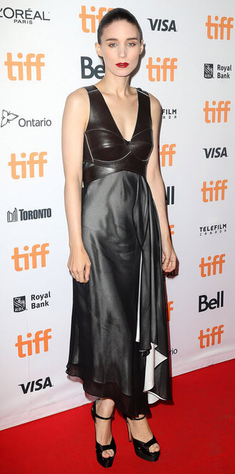 dress sandals rooney mara