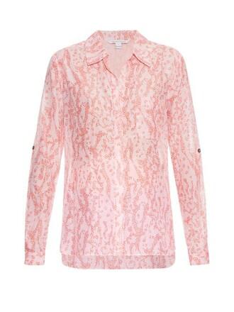shirt coral top