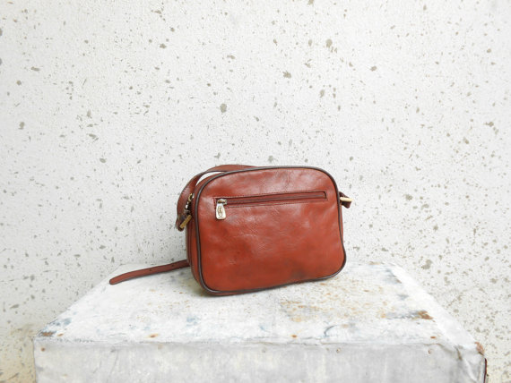 Vintage FRANCINEL Leather Purse / Brown Purse / by VindicoShop