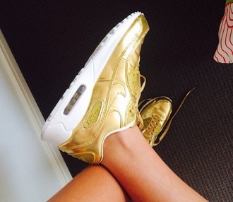 shoes gold nike air air max nike shoes