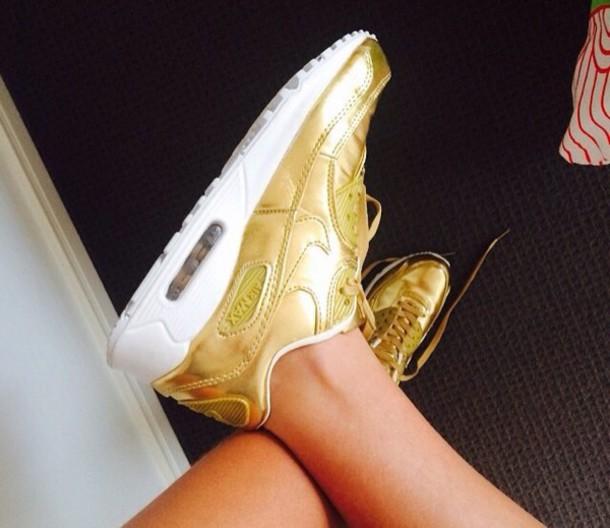 shoes gold nike air air max nike shoes