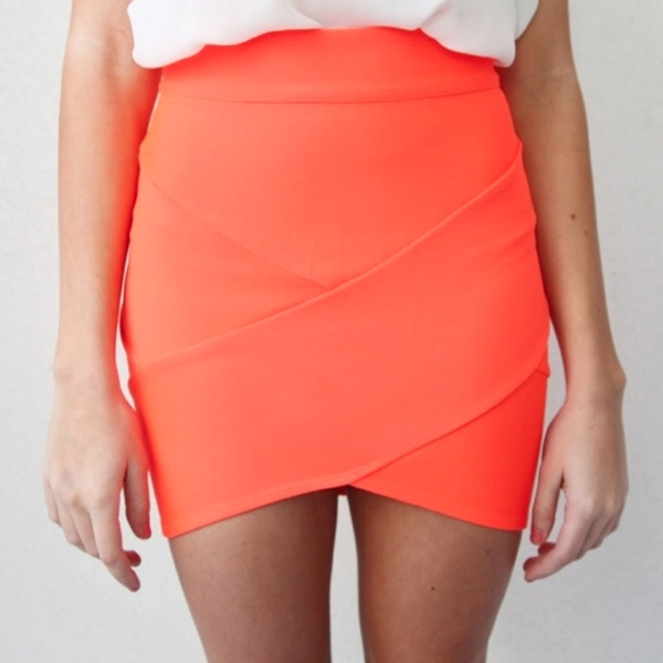 Orange Bandage Wrap Tube Disco Skirt 6 8 10 12 | eBay