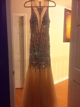 dress prom gown prom dress prom champagne dress champagne diamonds diamond dress