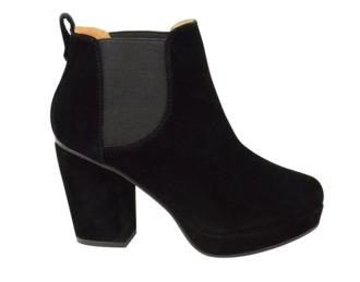 boots black boots chelsea boots elastic black dain heels right heel platform boots platform high heels