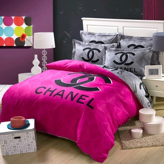 home accessory chanel bedding cute pink dope earphones