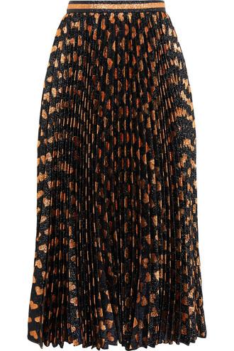 skirt pleated black bronze