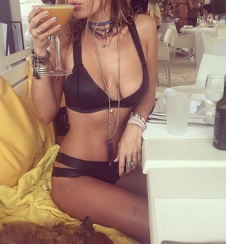 swimwear bikini top black bikini bikini bottoms strappy bikini