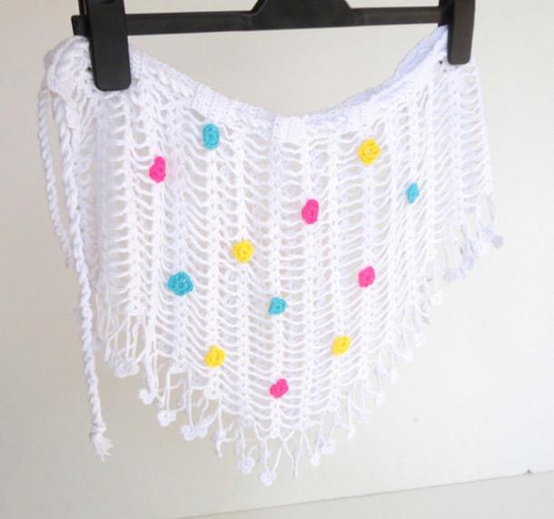 Skirt Beach Wrap Beach Crochet Beach Pareo Sarong Beach Skirt