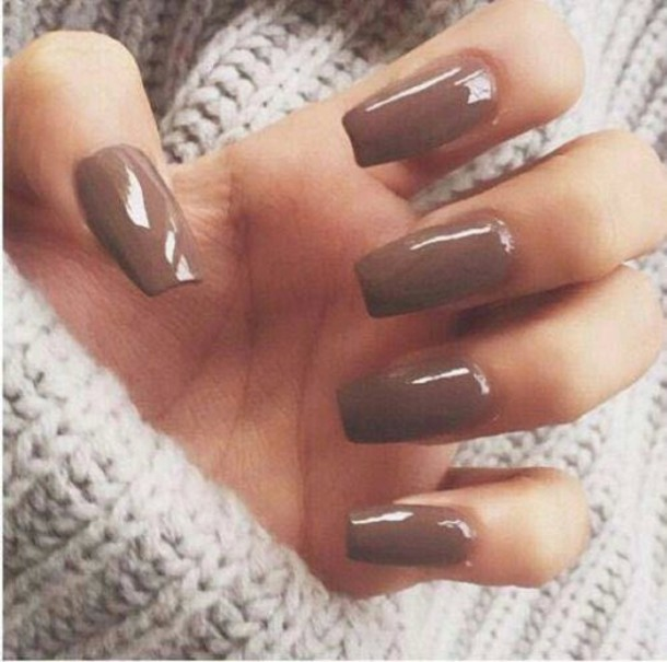 TOASTED ALMOND Pastel Brown/Nude/Ivory Creme Nail Polish Quick Dry ...